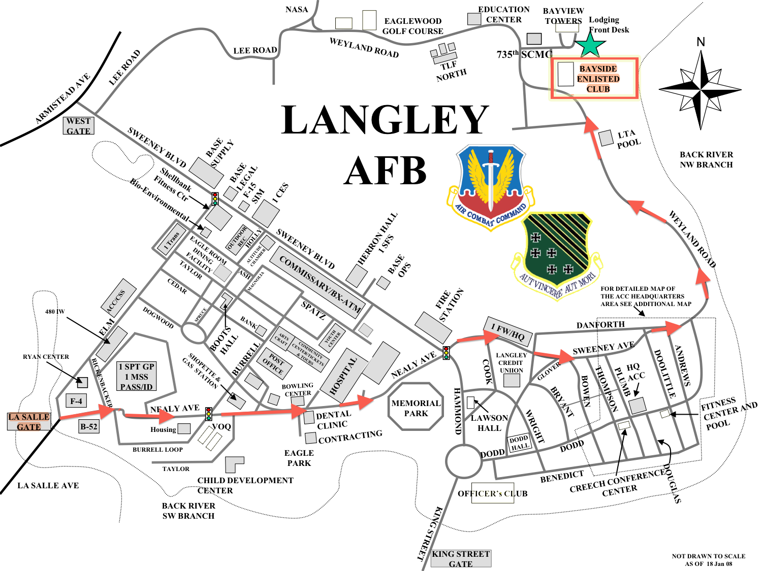 Langley AFB Spaceanet - Us map of air force bases